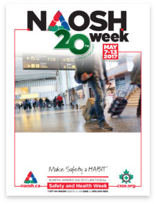 Poster in PDF titled 20th Anniversary for NAOSH Week. May 7-13, 2017