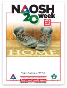 Poster in PDF titled 20th Anniversary for NAOSH Week - Home. May 7-13, 2017